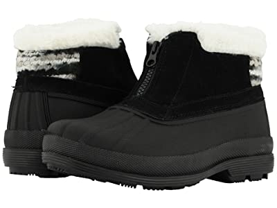 Propet Lumi Ankle Zip (Black/White) Women