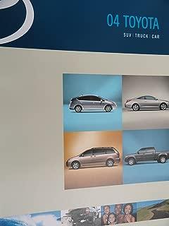 2004 Toyota Prius / Solara / Sienna / Tundra / Tacoma / Land Cruiser / Sequoia / 4Runner / Highlander / Rav4 / Avalon / Camry / Corolla / Echo / Matrix / Celica / MR2 Sales Brochure