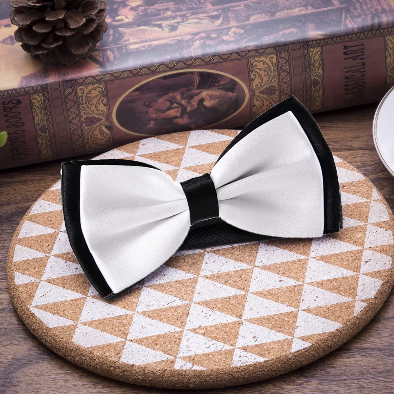 Mens Classic Pre-Tied Satin Formal Tuxedo Bowtie Adjustable Ancient symbol
