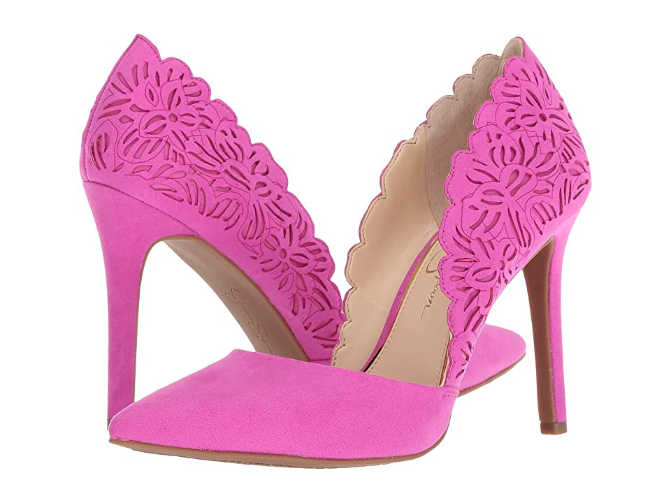Jessica Simpson Cassel (Hot Shot Pink Microsuede) High Heels