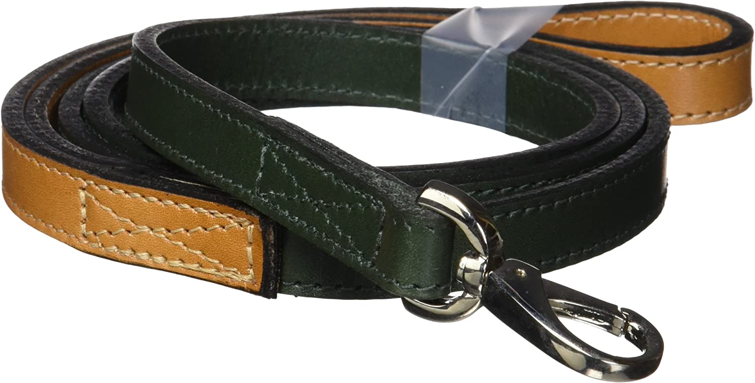 Hartman & pink 5029 Hartman Dog Lead, 1 2Inch, Ivy Green with Tan Handle