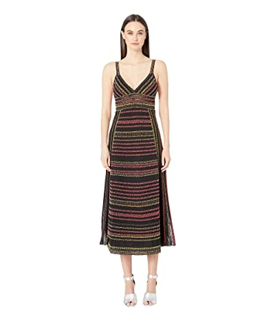 M Missoni Popcorn Jacquard Long Dress (Black) Women