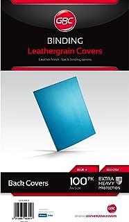 Gbc Ibico Leathergrain Covers Blue 100Pk