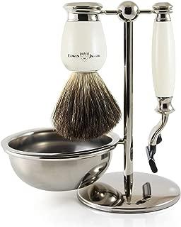 Edwin Jagger Shaving Gift Set, Ivory