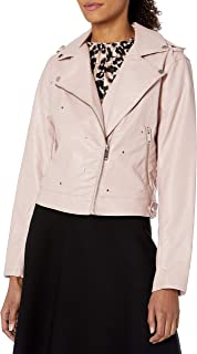 French Connection Women's Faux Leather Moto Jacket
