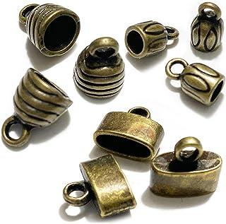 Necklace Cord Crimp End Caps brown 9396