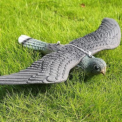 GSDCNV Pájaro Volador Realista con Cuerdas para Colgar, Control de plagas, espantapájaros realistas para jardín, Gato y pájaro: Amazon.es: Jardín