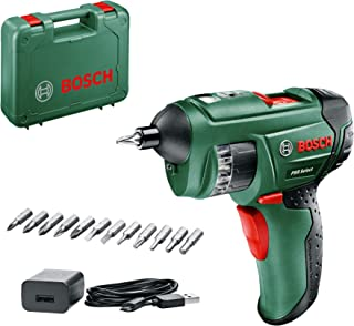 Bosch 603977041 PSR Select Cordless Screwdriver with Integrated 3.6 V Lithium-Ion Battery (12 Integrated Screwdriver Bits,...