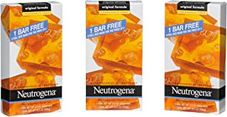Neutrogena Transparent Facial Bar, Unscented Pack, 3.5 OZ, 3 Count (Pack of 6)