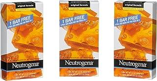 Neutrogena Transparent Facial Bar, Unscented Pack, 3.5 OZ, 3 Count (Pack of 6)