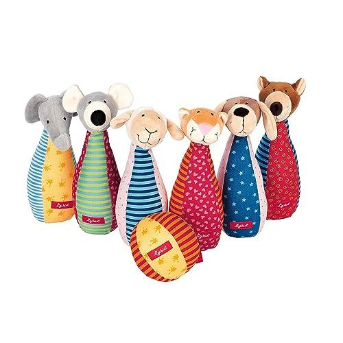 sigikid, 49520, fille et garçon, jeu de quilles en tissu, multicolore