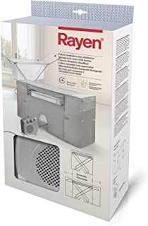Rayen 6175 Cubre tendedero con Calefactor, Tejido Non Woven, Gris, 105-180x56x106 cm