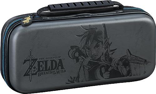 Nintendo Switch Deluxe Zelda Link Travel Case, Premium Hard Case Made with KoSkin Leather Embossed with Zelda Breath ...