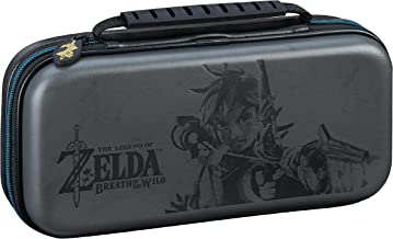 Nintendo Switch Deluxe Zelda Link Travel Case, Premium Hard Case Made with KoSkin Leather Embossed with Zelda Breath of th...