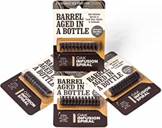 4 Pack - Barrel Aged in a Bottle Oak Infusion Spiral - Barrel Age Whiskey Gin Rum Wine Beer