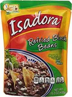 Isadora Black Refried Beans, 15.2-Ounce (Pack of 8)