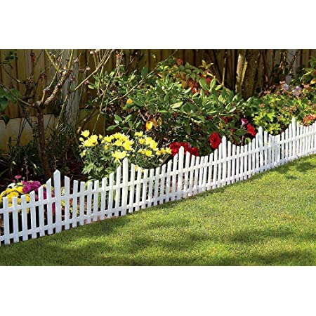 Roots and Shoots Fence Lawn Edging White