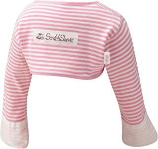 ScratchSleeves | Baby Girls` Stay-On Scratch Mitts | Stripes