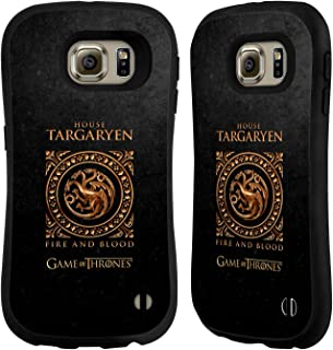 Official HBO Game of Thrones Targaryen Metallic Sigils Hybrid Case Compatible for Samsung Galaxy S6