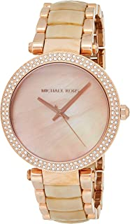 Women's Analog-Quartz Watch with Stainless-Steel Strap, Rose Gold, 18 (Model: MK6492)