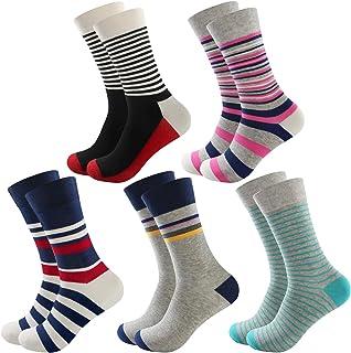 Yoart Mens Dress Socks Novelty Funny Socks Men Pack 3/5 Pairs Crazy Colorful Cotton Crew Socks for Men/Women/Boys/Girls
