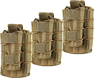 HOANAN Double Mag Pouch, Tactical Molle Magazine Pouch Open-Top Single Rifle Pistol Mag..