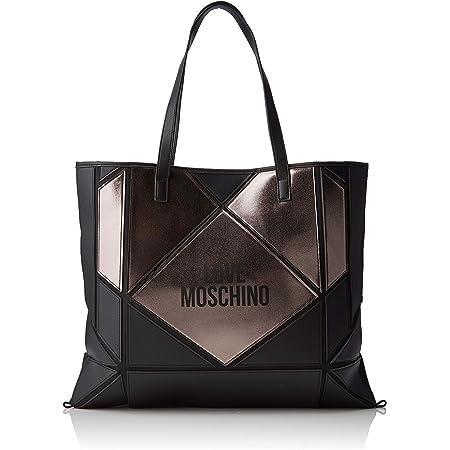 Love Moschino Unisex-Erwachsene Jc4120pp18lx100b Tragetasche (Tote Bag), Schwarz (Nero/Fucile), 37x2x45 Centimeters (W x H x L)