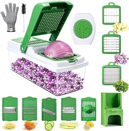 Hachoir et Shooter avec contr/ôle OneTouch et 5 Accessoires gratuits Good Cooking Salade Maker d/échiqueteuse /électrique trancheuse