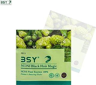 BSY Noni black hair magic shampoo | Noni hair colour | Noni hair dye | Hair dye | Hair dye shampoo | shampoo based hair color | 10 Mins hair color | Ammonia-free hair color | shampoo12 ml x 6 Sachets