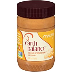 Earth Balance Natural Peanut Butter and Flaxseed Spread, Creamy, Vegan, Non-GMO Project Verified, Gl