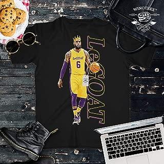 LeGOAT James No.6 LA Basketball Legend Player Jersey Customized Handmade T-Shirt Hoodie/Long Sleeve/Tank Top/Sweatshirt