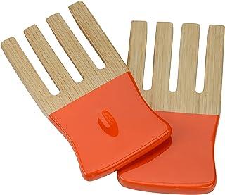 Premier Housewares Kyoto Spun Bamboo Salad Forks - Orange