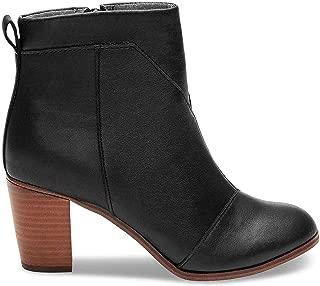 Women's Black Leather Leather Lunata Bootie