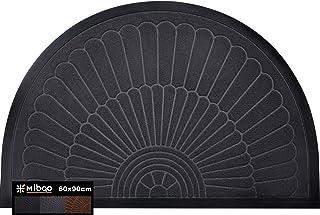 Mibao Half Round Door Mat, Durable Front Outdoor Rug, Heavy Duty Rubber Mats, Non-Slip Low Profile Semicircle Doormats for...