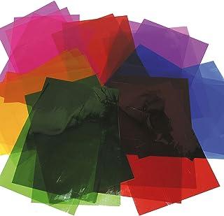 Baker Ross Lot de 36 Feuilles Loisirs Colorées en Cellophane - Idéal pour les loisirs créatifs