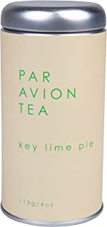 Par Avion Tea Key Lime Pie - A Pleasing and Healthful Black Tea Blend of Lime and Candied Pineapple - Small Batch Loose Leaf Tea in Artisan Tin - 4 oz