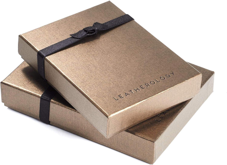 Leatherology Ebony Men's Slim Money Clip Card Case Wallet