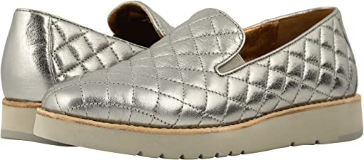 Pewter Italian Metallic Glove Leather