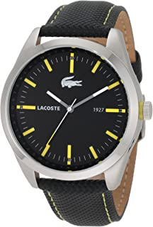 Lacoste Men's 2010596 Montreal Black With Yellow Details Watch