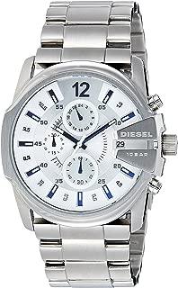 Men's Master Chief Quartz Watch with Stainless Steel Strap, Silver, 24 (Model: DZ4181)