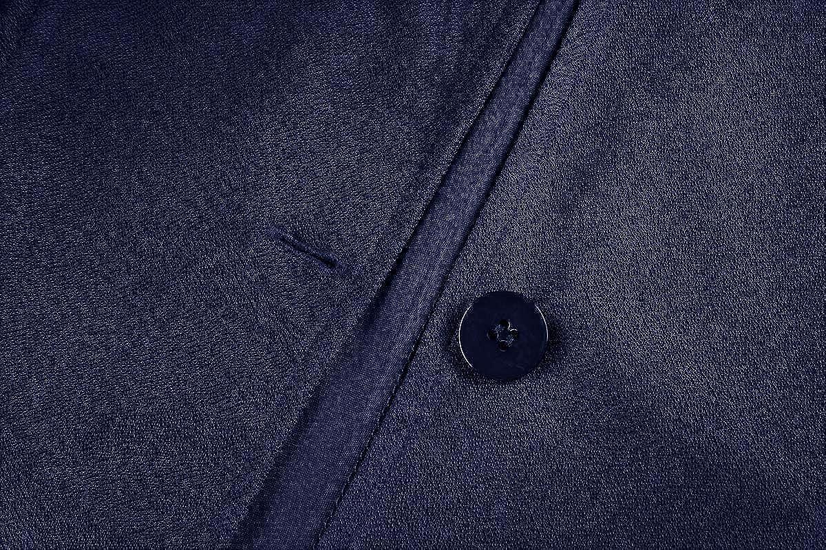 MINTLIMIT Damen Blazer Dünn Langarm Knopfleiste Leicht Bolero Jacke Cardigan Anzugjacke mit Taschen Navy