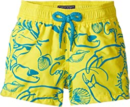 Flocked Shellfish Swim Trunk (Toddler/Little Kids/Big Kids)