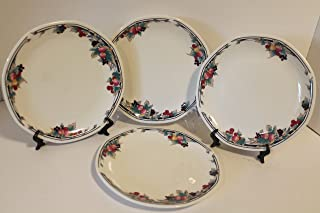Autumn's Glory by ROYAL DOULTON SET of 4 Salad Plates 8 1/4