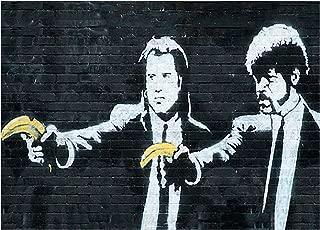 Youframe Banksy Pulp Fiction Canvas-40.6cm x 30.5cm (16