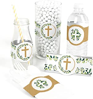 Elegant Cross - DIY Party Supplies - Religious Party DIY Wrapper Favors and Decorations - Set of 15