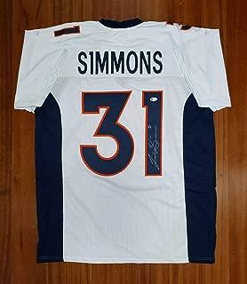 Signed Justin Simmons Jersey - Beckett - Beckett Authentication - Autographed NFL Jerseys