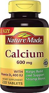 Nature Made 钙片(碳酸盐) 600 mg,维生素D3 400 IU,大瓶装,220片