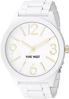 Nine West White Textured Bracelet Watch