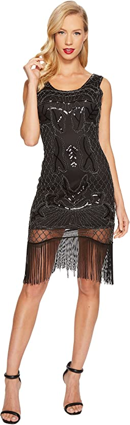 Unique Vintage - Francoise Fringe Flapper Dress