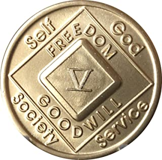 5 Year NA Medallion Official Narcotics Anonymous Chip